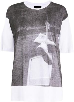 DKNY shoe print T-shirt