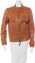 Elizabeth and James Long Sleeve Leather Jacket