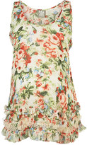 Maternity Floral Ruffle Vest