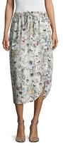 ADAM by Adam Lippes Printed Drawstring Midi Skirt