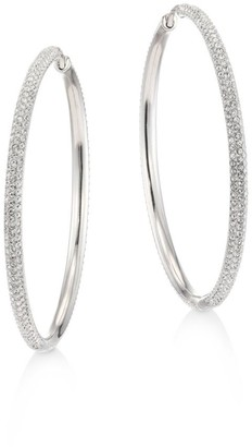 Adriana Orsini Pave Hoop Earrings