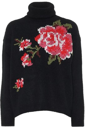 RED Valentino floral turtleneck sweater