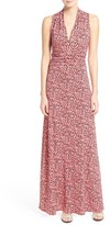 Vince Camuto Petite Women's 'Shadow Forms' Print Jersey Maxi Dress