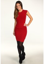French Connection Dani Crepe Lace Back Dress (Ruby Red) - Apparel