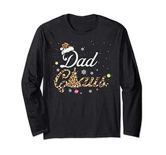 Christmas Santa Matching Family Dad Claus Costume Gift Long Sleeve T-Shirt