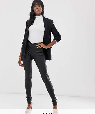 Y.A.S Tall leather legging in black
