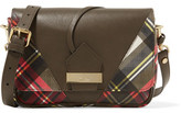 Vivienne Westwood Tartan-Paneled Leather Shoulder Bag
