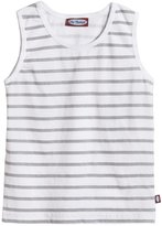 City Threads Soft Stripe Jersey Tank (Toddler/Kid) - White-14