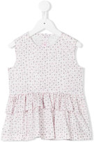 Il Gufo floral print ruffled top - kids - Cotton/Spandex/Elastane - 4 yrs