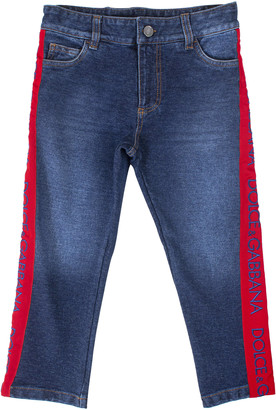 Dolce & Gabbana Baby Jeans With Side Bands
