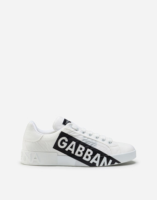 Dolce & Gabbana Nylon Portofino Sneakers With Logo Tape
