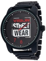 Vision Street Wear Men's Analog Watch - Black