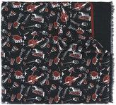 Dolce & Gabbana musical instrument print scarf - men - Modal/Cashmere - One Size