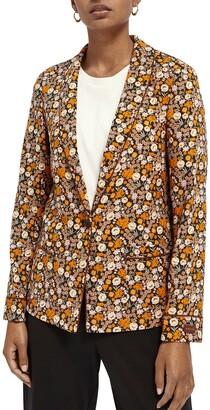 Scotch & Soda Floral Print Pyjama Blazer