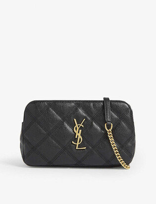 Saint Laurent Becky leather camera bag
