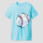 Cat & Jack Boys' Baseball Graphic T-Shirt Cat & Jack - Aqua