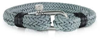 Forzieri Ice Grey Woven Rope Men's Bracelet
