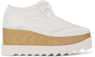 Stella McCartney White Mesh Elyse Derbys