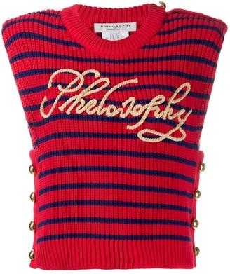 Philosophy di Lorenzo Serafini Knitted Striped Top