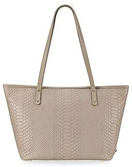 GiGi New York Women's Taylor Mini Zip Python-Embossed Leather Tote Bag