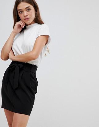 Brave Soul juli tie waist skirt