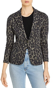 Majestic Filatures Leopard Print Single-Button Blazer