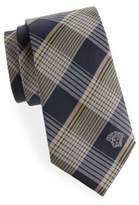 Versace Plaid Silk Tie