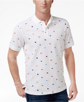 Club Room Men's Flag Print UPF 50+ Performance Polo, Only at Macy's