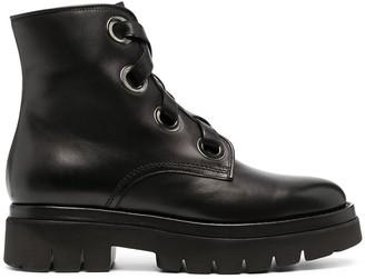 Santoni Lace-Up Combat Boots