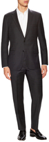 Hickey Freeman Wool Checkered Notch Lapel Suit