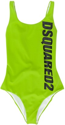 DSQUARED2 TEEN logo-print swimsuit