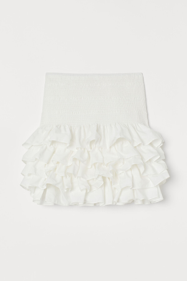 H&M Flounced cotton skirt