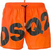 DSQUARED2 slanted logo swim shorts - men - Polyamide - 52