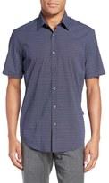 BOSS 'Luka' Trim Fit Geo Print Short Sleeve Sport Shirt