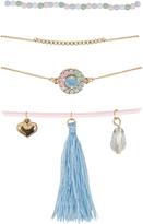 Yours Clothing 4 PACK Gold & Multi Friendship Bracelet Set