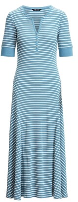 Lauren Ralph Lauren Ralph Lauren Striped Cotton Henley Dress