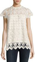 Allison New York High-Neck Lace Top
