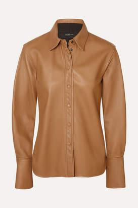 Joseph Brann Leather Shirt - Camel