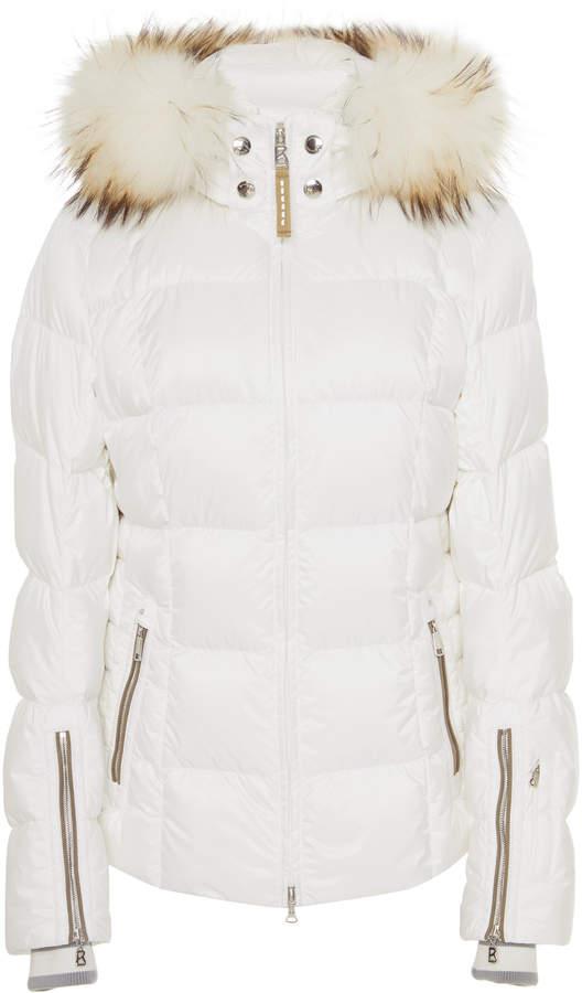 dcd13a60a Vera Fur-Trimmed Shell Hooded Puffer Coat