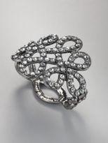 New York & Co. Silvertone Swirls Glittering Bracelet