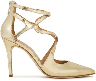 MICHAEL Michael Kors Mirrored-leather Pumps
