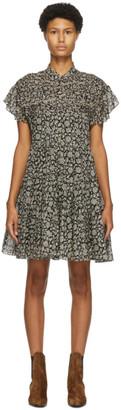 Etoile Isabel Marant Black and Beige Laniyake Dress