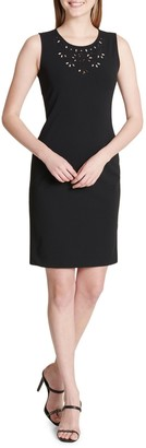 Calvin Klein Collection Eyelet Sheath Dress
