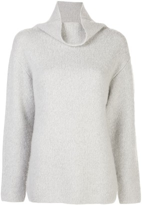 John Elliott oversized draped-neck jumper