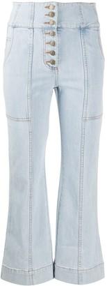 Ulla Johnson Cropped Straight-Leg Jeans