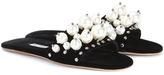 Miu Miu Exclusive to mytheresa.com – embellished velvet slip-on sandals