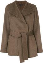 Joseph wrap jacket - women - Cotton/Cashmere/Wool - 34