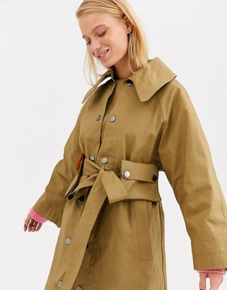 Asos bonded trench coat