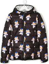Fendi teen printed reversible coat