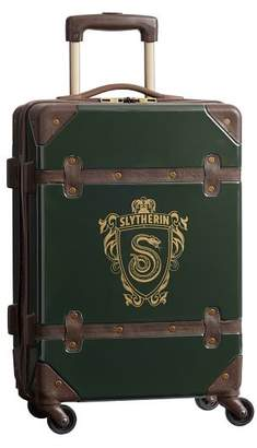 Pottery Barn Teen HARRY POTTER Hard-Sided SLYTHERIN Carry-on Spinner, 22&quot, Green